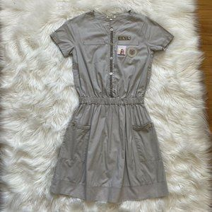Kenzo Girl's Dress Applique Grey Short Sleeves